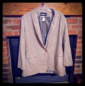 Casablanca 2 taupe and cream suit jacket size 20w